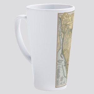 Vintage Map of Buffalo New York (1 17 oz Latte Mug